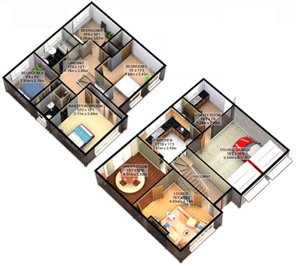 3d Floorplans House Plans Home Designs