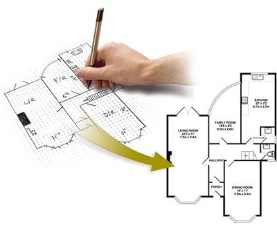Autodraw sketch and fax floor plan service for Floor plan sketch